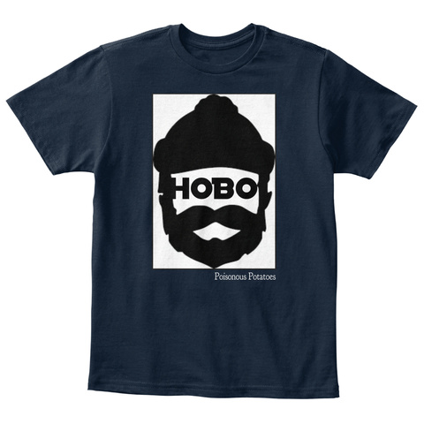 Hobo Poisonous Potatoes New Navy T-Shirt Front