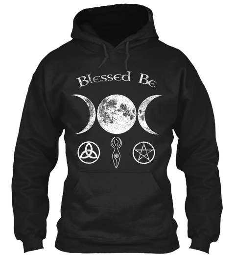 Blessed Be Black Sweatshirt Front