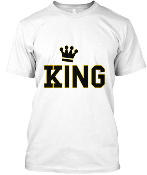 King White T-Shirt Front