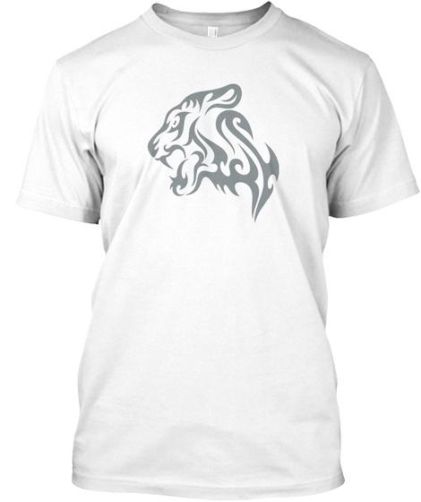 Best Animals Tattoo T Shirt Tiger White T-Shirt Front