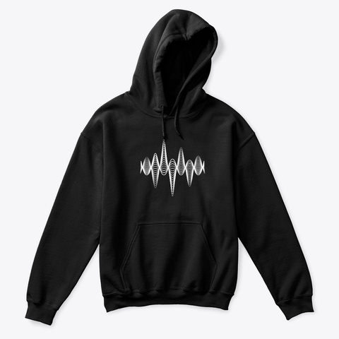 Hoodie: Inspiration Black T-Shirt Front