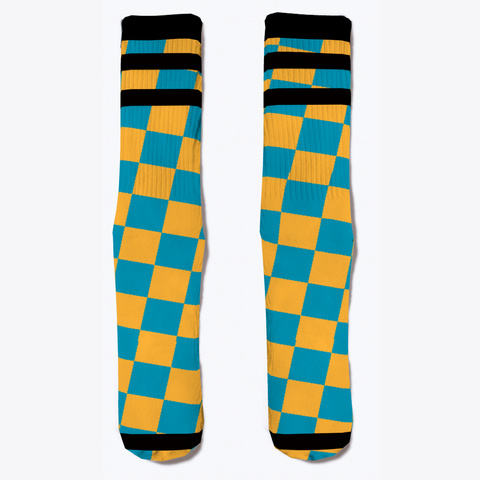 Checkered Socks Standard T-Shirt Front