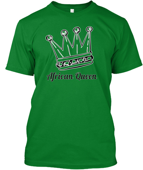 African Queen Bright Green T-Shirt Front