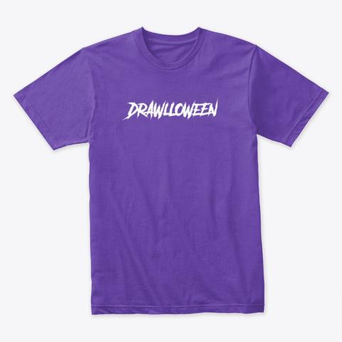 Drawlloween Logo Purple Rush T-Shirt Front