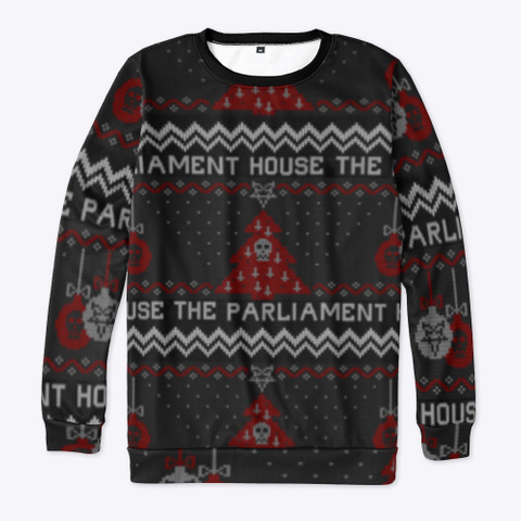The Parliament House 2020 Ugly Sweater  Black T-Shirt Front