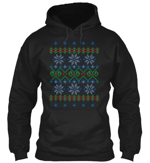 Uglier Ugly Christmas Sweater Black T-Shirt Front