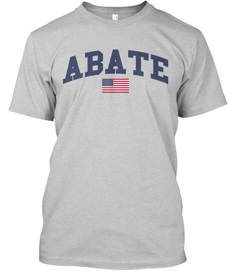 Abate Family Flag Light Steel T-Shirt Front