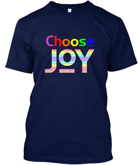 Choose Joy Navy T-Shirt Front