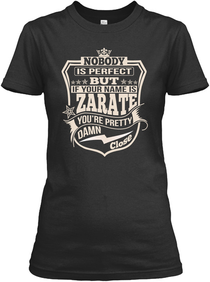 Nobody Perfect Zarate Thing Shirts Black Camiseta Front