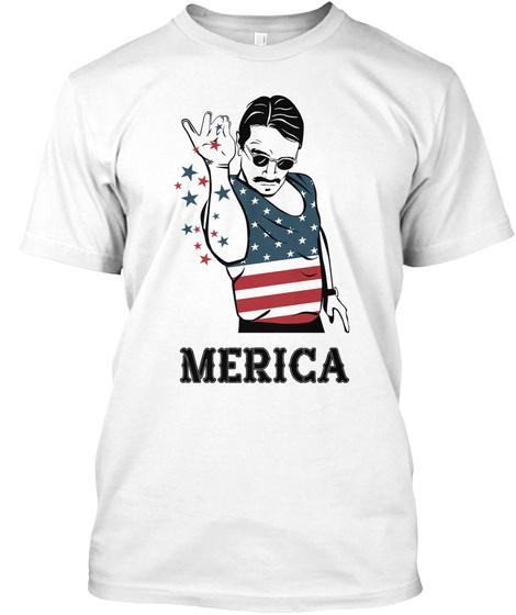 Merica White T-Shirt Front