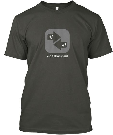:// :// X Callback Url Smoke Gray T-Shirt Front