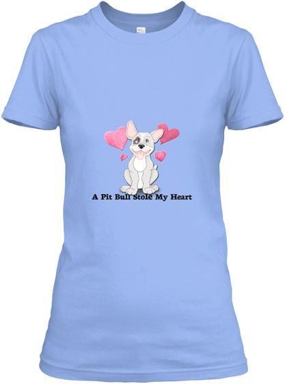 Critter Kin   A Pit Bull Stole Light Blue Women's T-Shirt Front