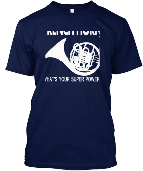 French Horn What's Your Super Power? Navy Kaos Front