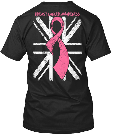 Breast Cancer Awareness Black Maglietta Back