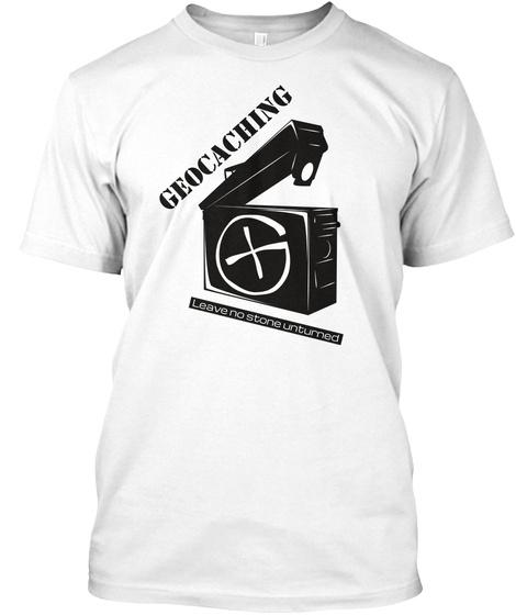 Geocaching White T-Shirt Front