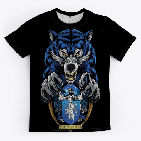 Angry Wolf T Shirt Black T-Shirt Front