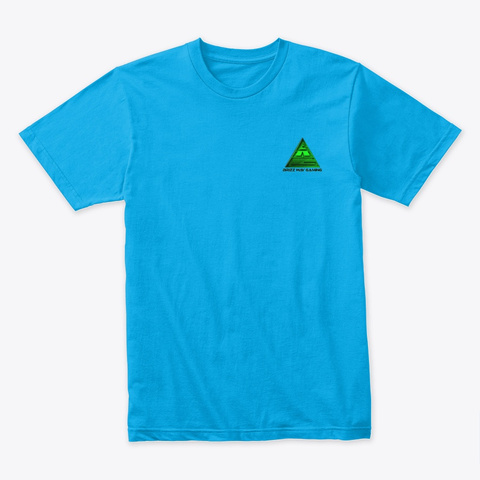 Classic Wolf Style Turquoise T-Shirt Front