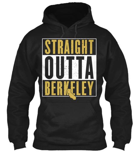 Straight Outta Berkeley Black T-Shirt Front