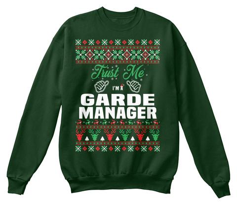 Trust Me I'm A Garde Manger Deep Forest  T-Shirt Front