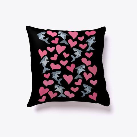 Shark Lover Pillow Black T-Shirt Front