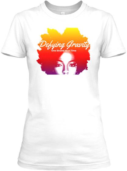Defying Gravity White T-Shirt Front