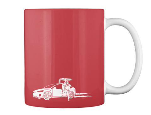 Marty X Mug [Usa] #Sfsf Bright Red Mug Back