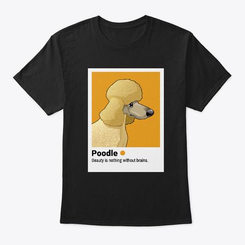 Poodle Profile Picture Black T-Shirt Front