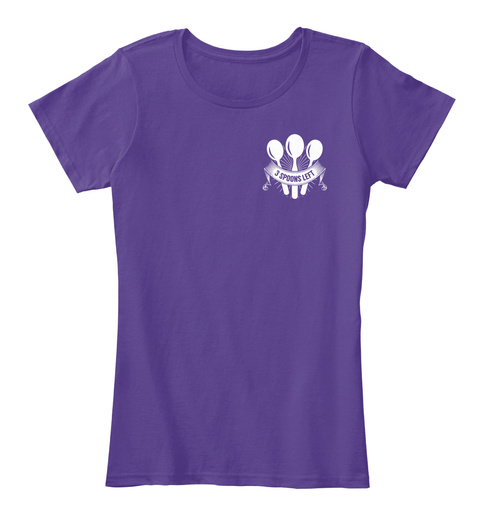 3 Spoons Left Purple Women's T-Shirt Front