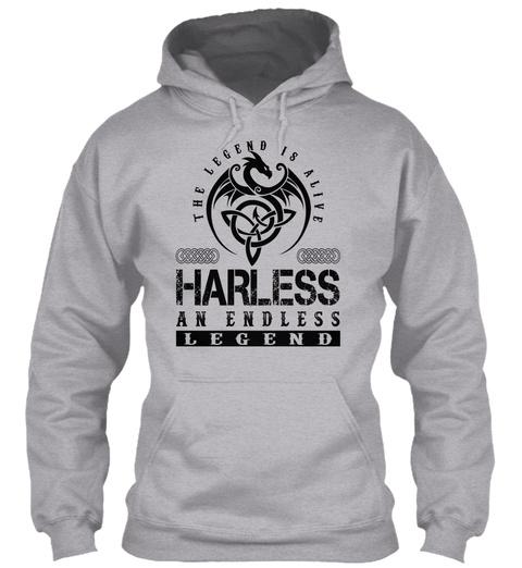 Harless   Legends Alive Sport Grey T-Shirt Front
