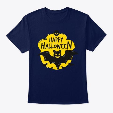 Happy Halloween T Shirts! Navy T-Shirt Front