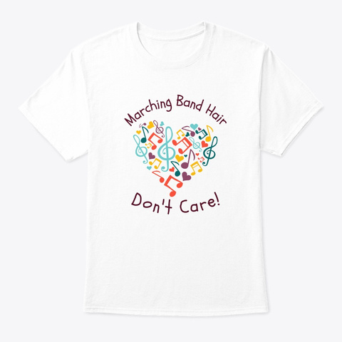 [$15+] Marching Band Hair   Heart White T-Shirt Front