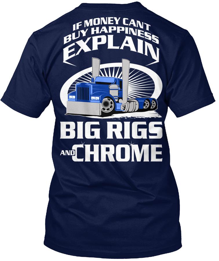 Truck Driver Trucker Big Rigs Chrome Unisex Tshirt