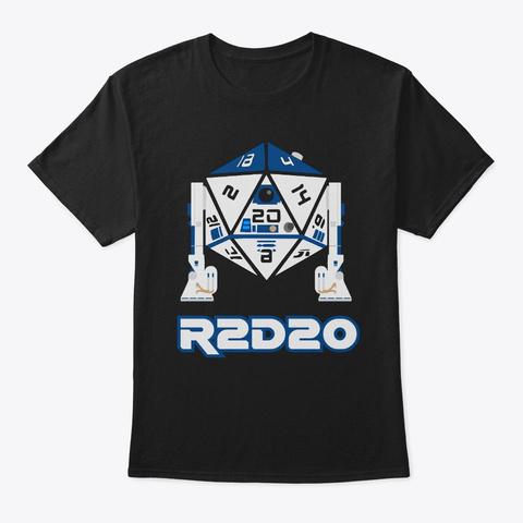 R2 D20 Black T-Shirt Front