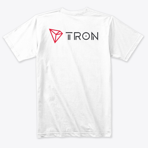 Tron Heather White T-Shirt Back