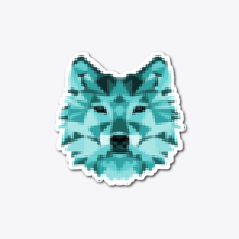 Pixel Art Wolf Standard T-Shirt Front