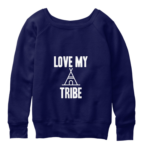 Love My Tribe Navy  T-Shirt Front