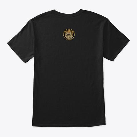 Vibes Not Violence  Black T-Shirt Back