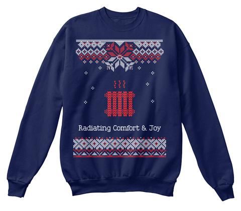 Radiating Comfort And Joy Navy  Sweatshirt Front
