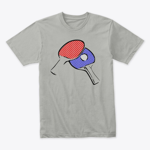 Ping Pong Light Grey T-Shirt Front