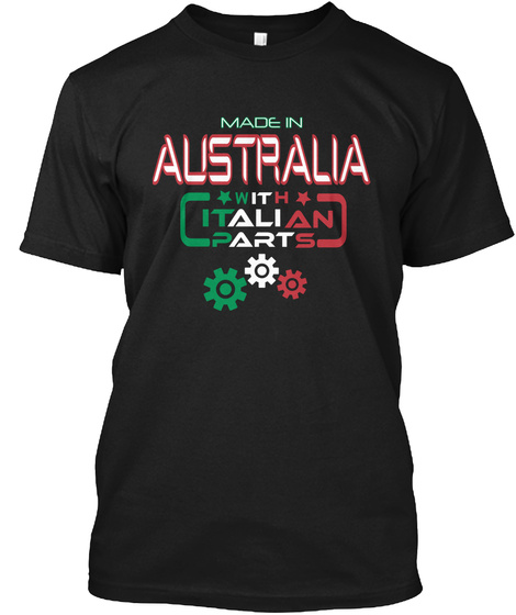 Made In Australia C C H W It It Ali An P Art S Black T-Shirt Front