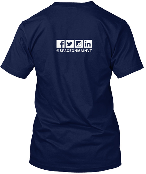 Som Your Space T Shirt Navy T-Shirt Back