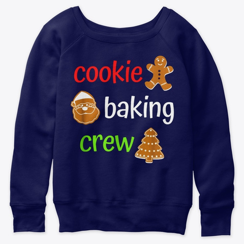 Cookie Baking Crew Team Christmas Family Navy  T-Shirt Front