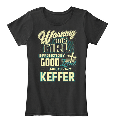 This Girl Protected  Keffer   Customizable Name Black T-Shirt Front