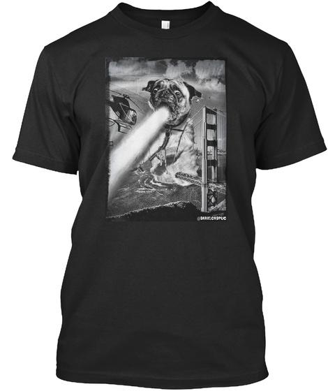 Pugzilla Black T-Shirt Front
