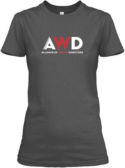 Alliance Of Women Directors  Charcoal T-Shirt Front