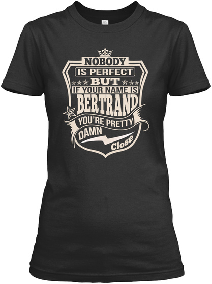 Nobody Perfect Bertrand Thing Shirts Black T-Shirt Front