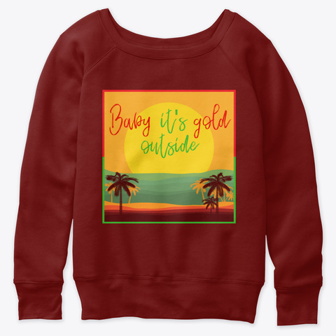 Holiday At The Beach Dark Red Triblend Sweatshirt Front