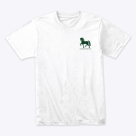 Saddlethreads Logo   Christmas Tree White T-Shirt Front