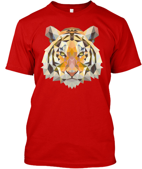 Tiger T Shirts And Hoodies Classic Red T-Shirt Front