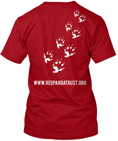 Www.Redpandatrust.Org Deep Red T-Shirt Back
